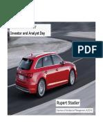 Audi Analyst Investor Day