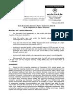 RBI Sixth Bi-monthly Monetary Policy Statement, 2015-16