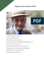 45 Lecții de Viață Scrise de Un Om La 90 de Ani