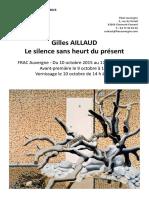 Exposition Gilles Aillaud au FRAC Auvergne 2016