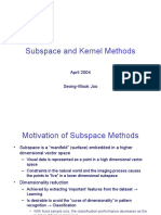 Subspace Methods