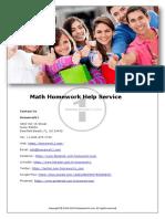Math Homework Help Service