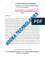 An Adaptive Control Strategy for Low Voltage Ride Through Capability Enhancement of Grid Connected Photovoltaic Power Plants