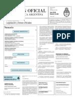 Boletín Oficial de la República Argentina, Número 33.308. 1 de febrero de 2016