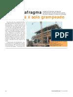 ORÇAMENTO REAL - Parede-diafragma Atirantada x Solo Grampeado