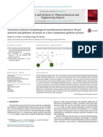 Sonication Induced Morphological Transformation Between 3D Gel