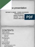 Case Presentation orthodontics