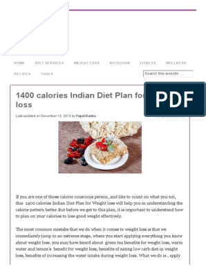 picture regarding 1400 Calorie Meal Plan Printable named 1400 Energy Indian Eating plan System for Bodyweight Reduction Dieting