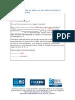 Modelo Carta de reclamos en Portugués