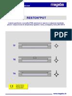 Mageba appareils d'appuis type Reston Pot