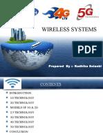 1g to 5g Wireless Technology