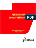 HSE LEADERSHIP Journey to HSE Excellent
