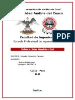 Trabajo Monograficotrabajo de investigacion medio ambiente de Investigacion Ronny Rojas Leon Ing Civil