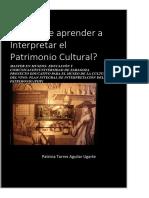 Aprender a Interpretar El Patrimonio
