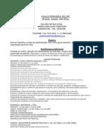 Curriculum Vitae Paulo Felipe
