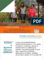 16 Days of Activism Power Point Presentation 2015