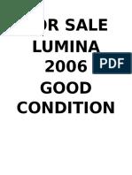 Lumina for Sale