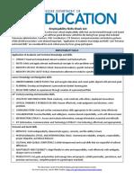 wbl employability skills checklist