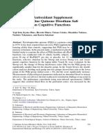 Effect of the Antioxidant Supplement Pyrroloquinoline Quinone Disodium Salt (BioPQQ™) on Cognitive Functions