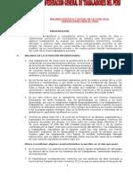 Balance Politico y Social de La CGTP y Perspectivas