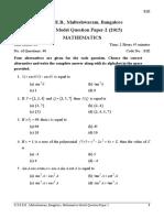 Maths MQP-2 English 2015