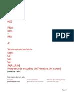 Programa de Estudios de 6