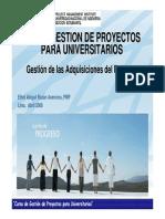 II Curso GP - Gestión de Las Adquisiciones Del Proyecto