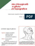 Anatomia Chirurgicală a Gâtului 2015