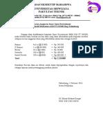 contoh Rincian Anggaran Dana Open Recruitment