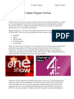 TV News Program Format