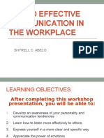 Key to Effective Communication in the Workplace