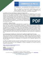 Communique de Presse FAO _ Amélioration de La Nutrition à Madagascar-une Actualisation de La Politique Est de Mise