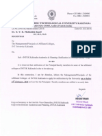 JNTUK Kakinada-Academics & Planning - Ratification of Principal Faculty - Reg.(01022016)