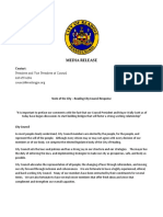 Reading City Council response to State of the City address