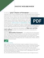 Alternative Web Browser
