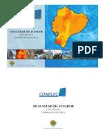 Atlas Solar Ecuador CONELEC CIE 2008 Dic 2014