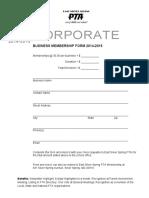 Pta Corporate-business Membership Form