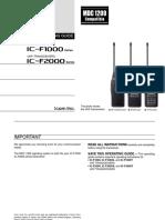 IC-F1000 F2000 OperatingGuide