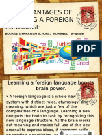 The Advantages of Learning a Foreign Language