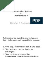 Demonstration Teaching