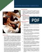 Gestión Educativa y Didactica