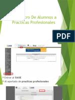 Registro de Alumnos a Practicas Profesionales