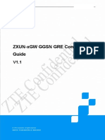 ZXUN-xGW GGSN GRE Configuration Guide_V1.1