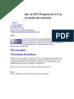 Activar Netframework 3.5 (Incluye 2 y 3)