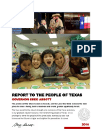 Governor's Report to the People of Texas 2016