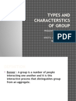 Types and Characterstics of Group