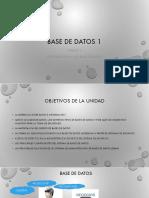 Unidad 1 Fundamentos de Base de Datos 1