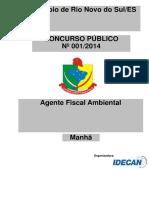 Idecan 2015 Prefeitura de Rio Novo Do Sul Es Agente Fiscal Ambiental Prova