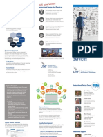 instructional design services brochure 12516