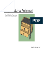 Google Sketch-up Assignment- End Tables